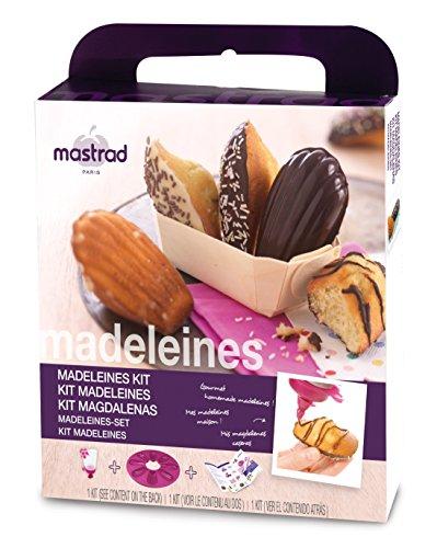 mastrad F42660 Kit madeleines, Silicone, Baie, 24,2 x 3,6 x 24,2 cm