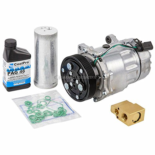 AC Compressor & A/C Kit For Volkswagen VW Golf & Jetta Mk4 - Includes Drier Filter, Expansion Valve, PAG Oil & O-Rings - BuyAutoParts 60-80109RK New