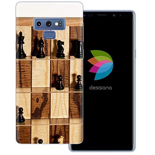 dessana Schach transparante beschermhoes mobiele telefoon case cover tas voor Samsung Galaxy S Note, Samsung Galaxy Note 9, Schaakbord spel