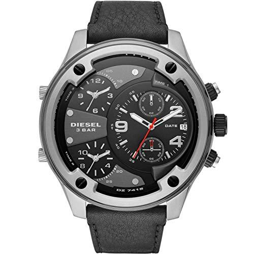 Diesel Herren Chronograph Quarz Uhr mit Leder Armband DZ7415