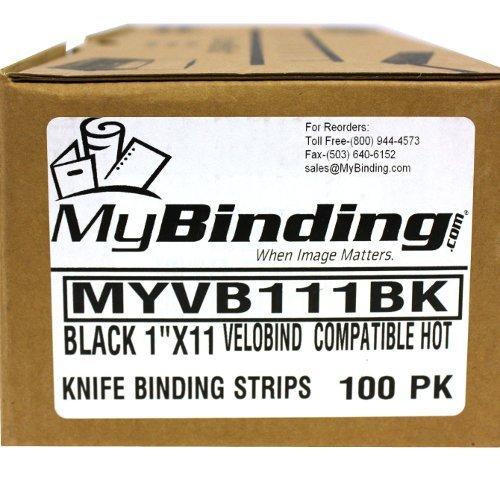 "Black Velobind Compatible Hot Knife Binding Strips - 100pk (1"" x 11"" ~ 250 Sheets) Photo #4"
