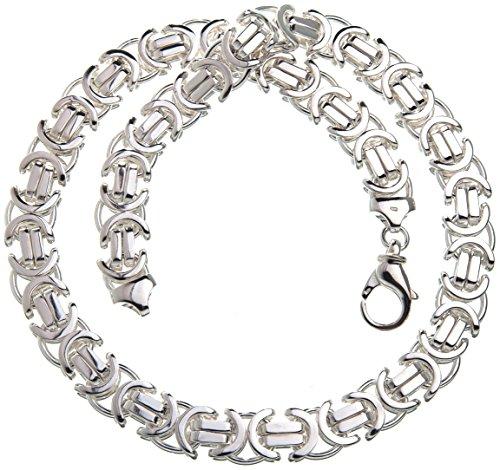 Flache Königskette 14mm - massiv 925 Silber, Länge 90cm