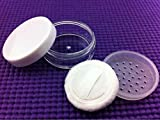 3 Pcs 20 g Portable vide clair Fond de teint Maquillage Houppette Boîte à nourriture avec tamis et Houppette Poudre libre Pot Pot de fleurs