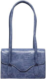 Women's bags, vintage texture bags, underarm bags, versatile shoulder bags, shoulder bags, envelope bags, large-capacity handbags, pu bags (Color : Blue, Size : One size)