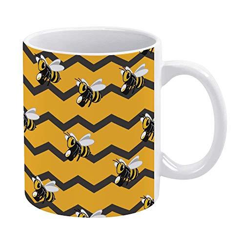 N\A Divertida Taza de café o té, Regalar o coleccionar, Tazas de café de 11 oz, jardín de Abejas