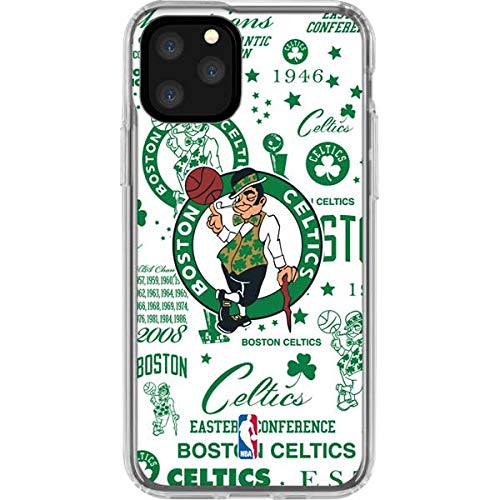 Skinit Clear Phone Case Compatible with iPhone 11 Pro - Officially Licensed NBA Boston Celtics Historic Blast Design