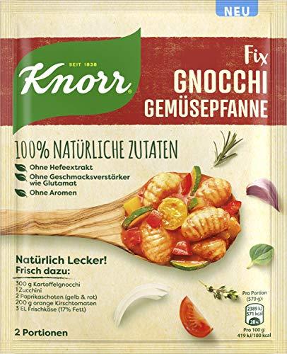 Knorr Natürlich Lecker Fix Gnocchi Gemüsepfanne aus natürlichen Zutaten aus 100% natürlichen Zutaten 30 g