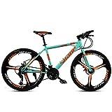 NOVOKART Bicicleta de Montaña Unisex, 26 Pulgadas, MTB para Adultos con Asiento Ajustable, Verde, 3 cortadores, Cambio de 24 etapas