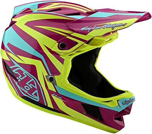 Troy Lee Designs D4 Composite MIPS - Casco de ciclismo (talla M), color morado y amarillo