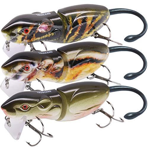 TRUSCEND - Señuelos de Pesca articulados de , nagori Fish for Bar Swimbait Glidebait con anzuelos Cebo Duro y Realista, Bass Lubina Señuelo para Pesca Spinning