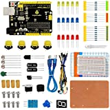 KEYESTUDIO Electronics Components Breadboard Module Starter Kit for Arduino Project for Uno R3 Accessories STEM Educational Science Coding Set for Student Kids Teens Adults Beginner
