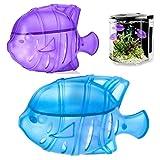 10 piezas pequeño filtro humidificador portátil para limpieza de peces accesorios removedor de olores práctico humidificador limpiador de tanques olor para evaporador vapor limpieza (azul)