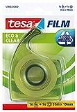 Cinta adhesiva y dispensador ecoLogo tesafilm Eco & Clear, 33 m x 15m