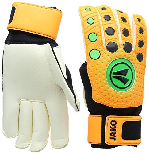 JAKO TW Handschuh Dynamic 3.0-Rollfinger Torwarthandschuh, Neonorange/Schwarz/Neongrün, 11