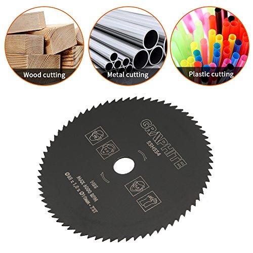 72T cirkelzaagblad, HSS doorslijpschijf 85 mm buitendiameter 10 mm binnendiameter metalen doorslijpschijf cirkelzaagbladen voor het zagen van cement/PVC-buizen/hout/kunststof