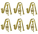 Beistle S55879-Gdaz6 Plastic Musical Instruments 18 Piece, 17'-21', Gold