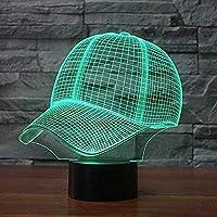 giyiohok 3DナイトライトLEDイリュージョンランプ16色とリモコン光学3Dイリュージョンランプ、アクリルフラットとABSベース、クリスマスの誕生日用のUSBケーブル付き-N17-N2-N11