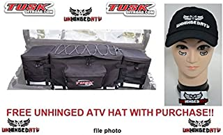 Tusk Modular UTV Storage Pack / Cooler / Cargo Box Black And FREE Unhinged ATV Hat! – Fits: Polaris RANGER 570 CREW-4 Mid Size 2014–2016