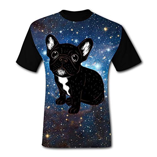 Men's Cute Brindle Frenchie Puppy Tshirt T-Shirt Fashion Short Sleeve Cycling Tee Shirts for Men/Women 3XL