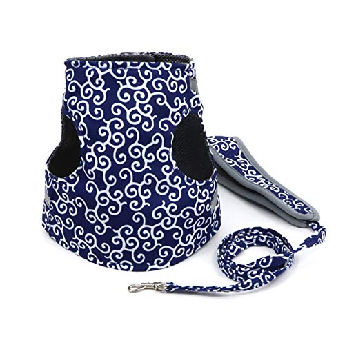 GHJYUK Cat Harness and Lead Set Escape Proof, Cat Vest Harness and Leash Set to Outdoor Walking,Suitable for Puppies and Kittens B XS