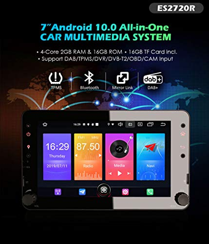 Autoradio Erisin ES2720R 7' HD 4-core Android 10.0 Auto System GPSper Alfa Romeo 159
