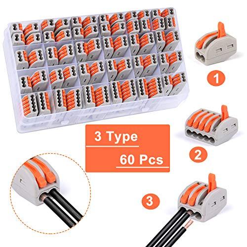 Bloques conectores eléctricos, 60pcs conectores de cable