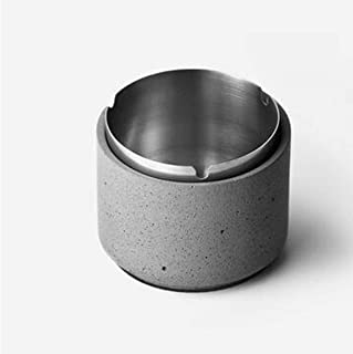 Ashtray, Condensate Design, Cement Home Living Room, Simple Industrial Style, Creative Desktop Gift Ideal for Home, Office use, Welcome to Buy (Color : Gray),Colour:Gray2 (Color : Gray)