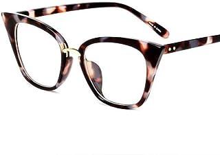 FRGTHYJ - FRGTHYJ Gafas Gafas de Sol Elegantes para Mujer Gafas de Sol con bisagra de Metal Bisagra de Metal Decoración de uñas Gafas ópticas Marco UV400 Gafas moradas