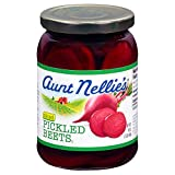 Aunt Nellie's Sliced Pickled Beets   Tangy, Earthy, Sweet and Delicious   Deep Vibrant Ruby Red-Purple   Grown & Made in USA   Smoothies, Salads, Side Dishes   16 oz. glass jars (Pack of 2)