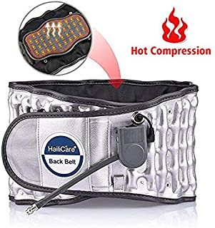 Lumbar Support Belt with Heat Decompression Back Belt for Back Brace Back Pain Relief Lower Lumbar Support for Waist Size 29-49 inch