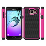 32nd Shockproof Defender Case Cover for Samsung Galaxy A5 (2016), Including Touch Stylus - Hot Pink