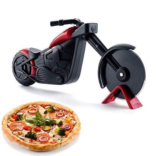 motorrad pizzaschneider, pizza cutter wheel, pizzarad aus edelstahl, Pizza-schneider, pizzaroller aus antihaftbeschichtetem, lustige pizza schneider (A)