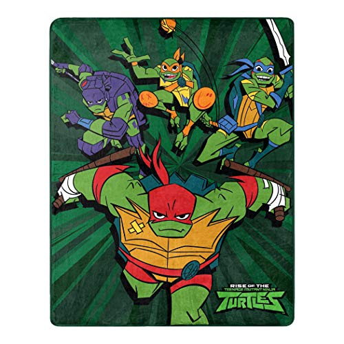 Nickelodeon Teenage Mutant Ninja Turtles, Coming Out of The Shell Silk Touch Überwurfdecke, 101,6 x 127 cm