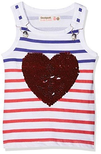 Desigual TS_Regina Camiseta, Blanco (Blanco 1000), 128 (Talla del Fabricante: 7/8) para Niñas