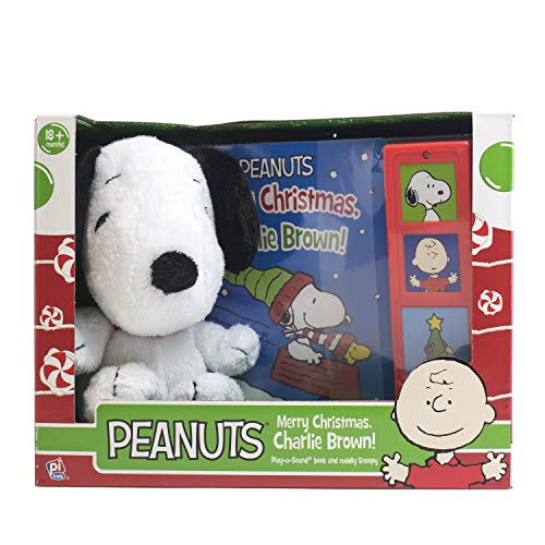 Peanuts Merry Christmas, Charlie Brown! - Snoopy Plush Included - Play-a-Sound - PI Kids