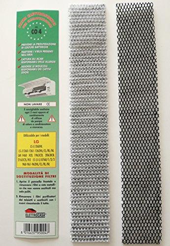 CO4 CONFEZIONE N 2 FILTRI CLIMATIZZATORI ARIA LG LS L126DHL - J1260 1261 1262HL CL RL NL H2L LM 1460 1963C2L 2063H3L LS (J-L) 0760 1 2 3 - 2163C2L H3 LG LS (J-L) 0760 1 2 3 - 960-961-962HL CL RL NL