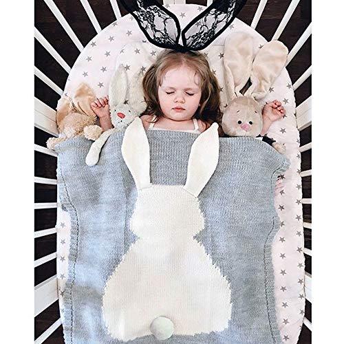 Everfunny Kids dekens, schattig konijn haak pasgeboren deken baby beddengoed Cover bad handdoeken spelen mat