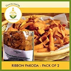 The Grand Sweets and Snacks (GSS) Ribbon Pakoda (Pack of 2) Each Pkt 250 Gms 250 g x 2 Pkts (Total 500g)