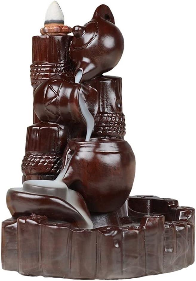 YUBIN Ceramic Incense Burner Backflow Incense Burner, Home Backf