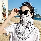MOER フェイスカバー ネックガード フェイスマスク 全14色柄 UVカット 釣りフェイスカバー 息苦しくない 冷感 日焼け防止