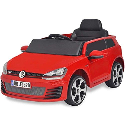 SENLUOWX Kinderauto Elektroauto VW Golf GTI 7 rot 12 V Kinderfahrzeug Kinderauto mit Fernbedienung*