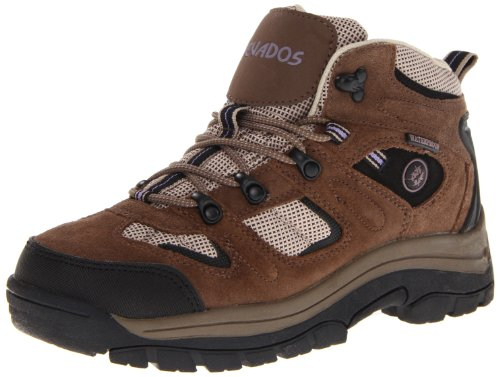 Nevados womens Klondike Wp V1173w-w hiking boots, Dark Brown/Black/Taupe, 8 Wide US