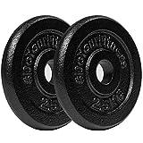 #DoYourFitness Hantelscheiben Set 2x2,5kg Gewichtsscheiben 100% Gusseisen - 30/31mm Bohrung 1,25kg...