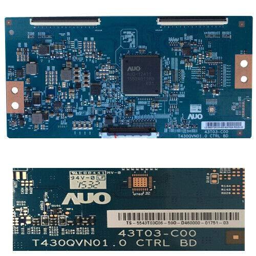 Tcon 43T03-C00 T430QVN01.0 Ctrl BD Samsung UE43JU6060K Samsung UE43KU6000K