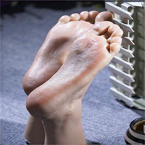 Silikon Füße Modell - Männliche Schaufensterpuppe Fuß Zehen Können Eingebaute Knochen Sichtbar Blutgefäße Lebensgroße Fixiert Werden - Display Schmuck Schuhsocken Kunst Skizze