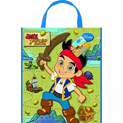 """Large Plastic Jake and the Never Land Pirates Goodie Bag, 13"""" x 11"""""""