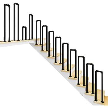 YUDE-L Barandilla de Escalera de Hierro Forjado Blanco, barandilla Redonda de Tubo galvanizado (envíenos Datos de tamaño Exactos después de la Compra): Amazon.es: Hogar