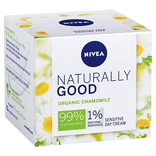 NIVEA Naturally Good Sensitive Day Cream Face Moisturiser with Organic Chamomile, 50ml, 50 ml