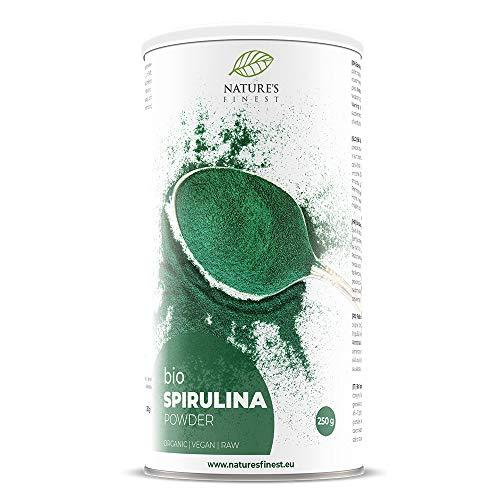 Nature's Finest Polvere di Spirulina Bio 250 g | Superfood Biologico e Puro | Alto Contenuto di Proteine e Ferro | Ideale per Vegani e Vegetariani