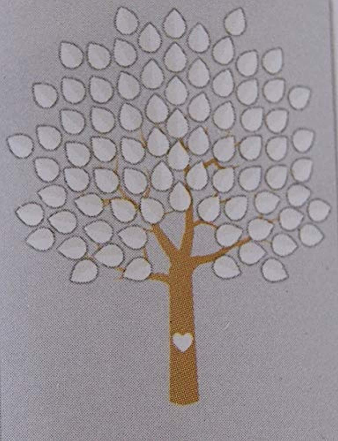 Horizon Group USA ''Take a Vow'' Wedding Guest Signature Print - Tree with 81 Leaf Stickers